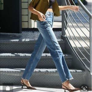 Re/done high waisted straight leg levis jeans